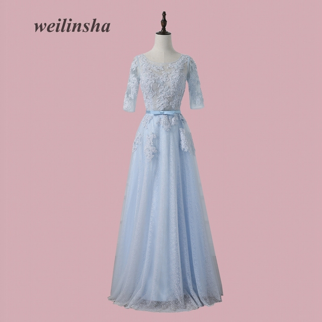 weilinsha New Charming Lace Evening Dresses A line Long Evening ...