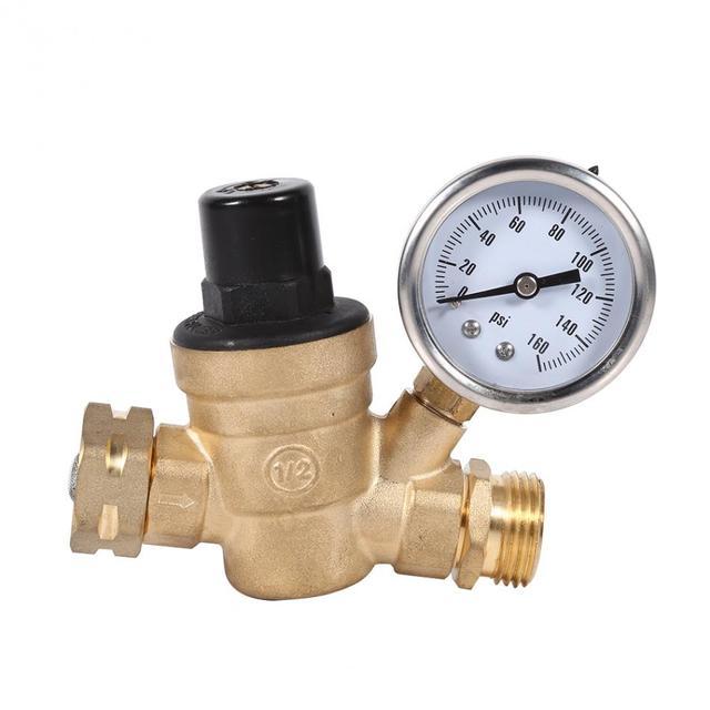 buy brass adjustable pressure regulator screw thread water pressing reducing. Black Bedroom Furniture Sets. Home Design Ideas