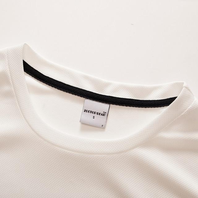Camiseta blanca 3D calavera Camiseta Hombre Top verano Camiseta calidad manga corta Camiseta cuello redondo Hip Hop gota nave ZOOTOPBEAR 2