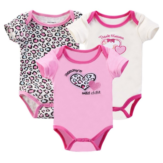 5f77b4a08 Retail 3 Pieces lot Cartoon Style Baby Girl Summer Clothes New Born ...