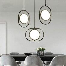 IKVVT Modern Simple Black Pendant Lights Nordic LED Lamp for Livingroom Restaurant Bedroom Bar Deco Lighting Fixture