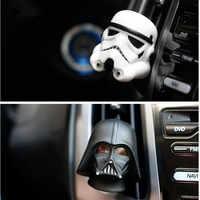 Decoração do carro para star wars darth vader branco stormtroopers aberturas clipe de perfume auto interior ambientador fragrância ornamentos