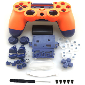 Image 1 - Custodia Set completo di Riparazione delle coperture pulsanti Caso Per Il DualShock 4 PlayStation 4 PS4 Pro jds 040 JDM 040 Copertura del Controller Arancione blu