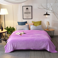 200x230 Cm 6 Different Colors Of The Sofa Air Bed Throw Pure Color Flannel Blanket Or