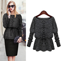 2016 New Arrival Hot Sale For  Women Girls  Crochet Knitwear  Jacket Coat Outwear Long Sleeve  Sweater BK   Nice Gift