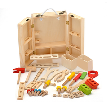 1 Set Wooden Toolbox House Service Simulation Boy Repair Kit Toys for Children Nut Toolbox Baby Kids Early Learning Game Gifts(China)