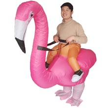 Inflatable Flamingo Costume for Adults Halloween Carnival Cosplay Party Fancy Dress Men Women Flamingo Rider Birthday Outfits chicken inflatable rooster rider costumes for adults halloween carnival cosplay party fancy dress women men birthday outfits red