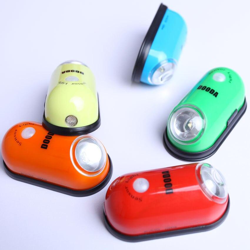 LED Mini Wireless Infrared Motion Sensor Night Light Wall Emergency Wardrobe Cabinet DOODA Lamp Atmosphere Light