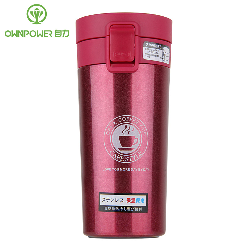 OWNPOWER 350ml Stainless Steel Thermocup Coffee Cup Fashion Insulation Bottle Travel Mug Vacuum Flasks Thermols Thermoses