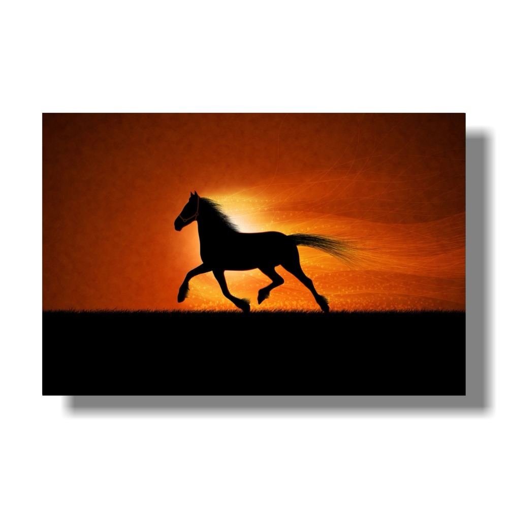 Galloping horse office wall painted fabric poster No Frame Galloping Horses 32 quot x 48 quot 24 quot x 36 quot Decor in Painting amp Calligraphy from Home amp Garden