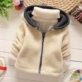 Nueva Moda de invierno 2015 niños ropa niños chaqueta ocasional wadded chaquetas frescas de los muchachos bebé prendas de vestir exteriores gruesa parka caliente Q161
