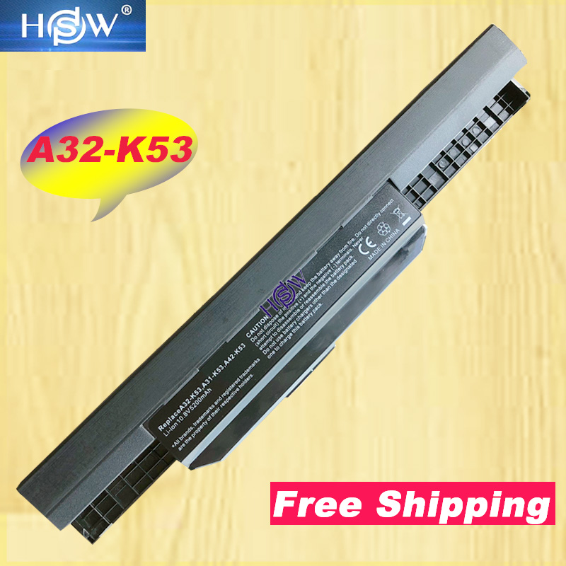 HSW laptop battery pack A32 K53 A41 K53 for ASUS K53 K53E X54C X53S X53 K53S X53E-in Laptop Batteries from Computer & Office