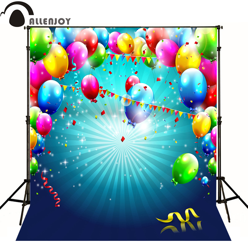 AllEnjoy photography background Balloon banner birthday color newborn photocall flags Professional photographic backdrop studio