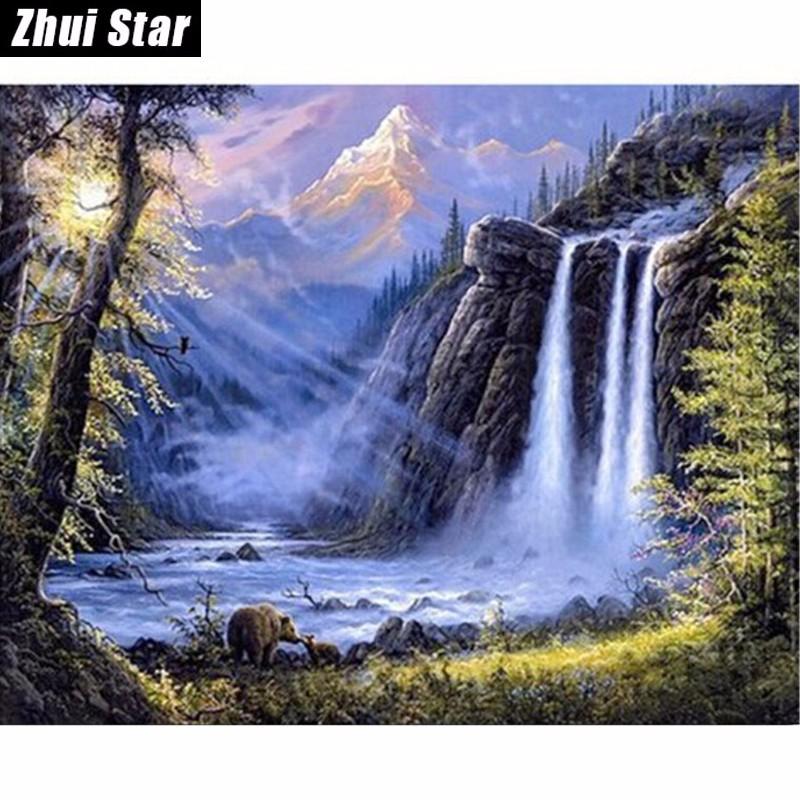 Waterfall-needlework-full-square-drill-5d-diy-diamond-painting-cross-stitch-diamond-embroidery-mosaic-rolled-up