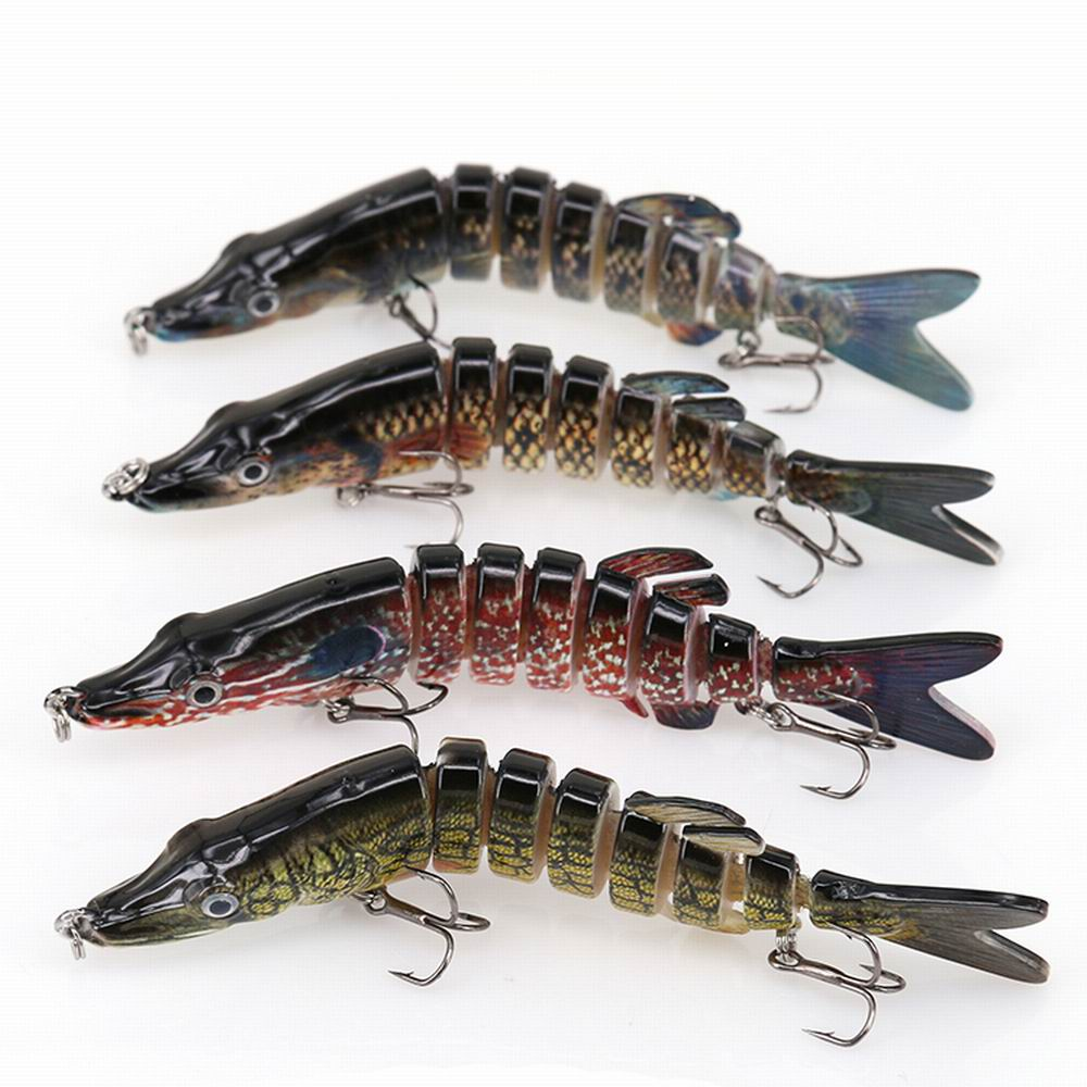 3D Eyes 6-Segment Fishing Lure Swimbait Crankbait Bait 13cm 20g Isca Fish Lures With 2 Hook Sea Fishing Tackle Pesca Cebo 1pcs fishing lure bait minnow with treble hook isca artificial bass fishing tackle sea japan fishing lure 3d eyes