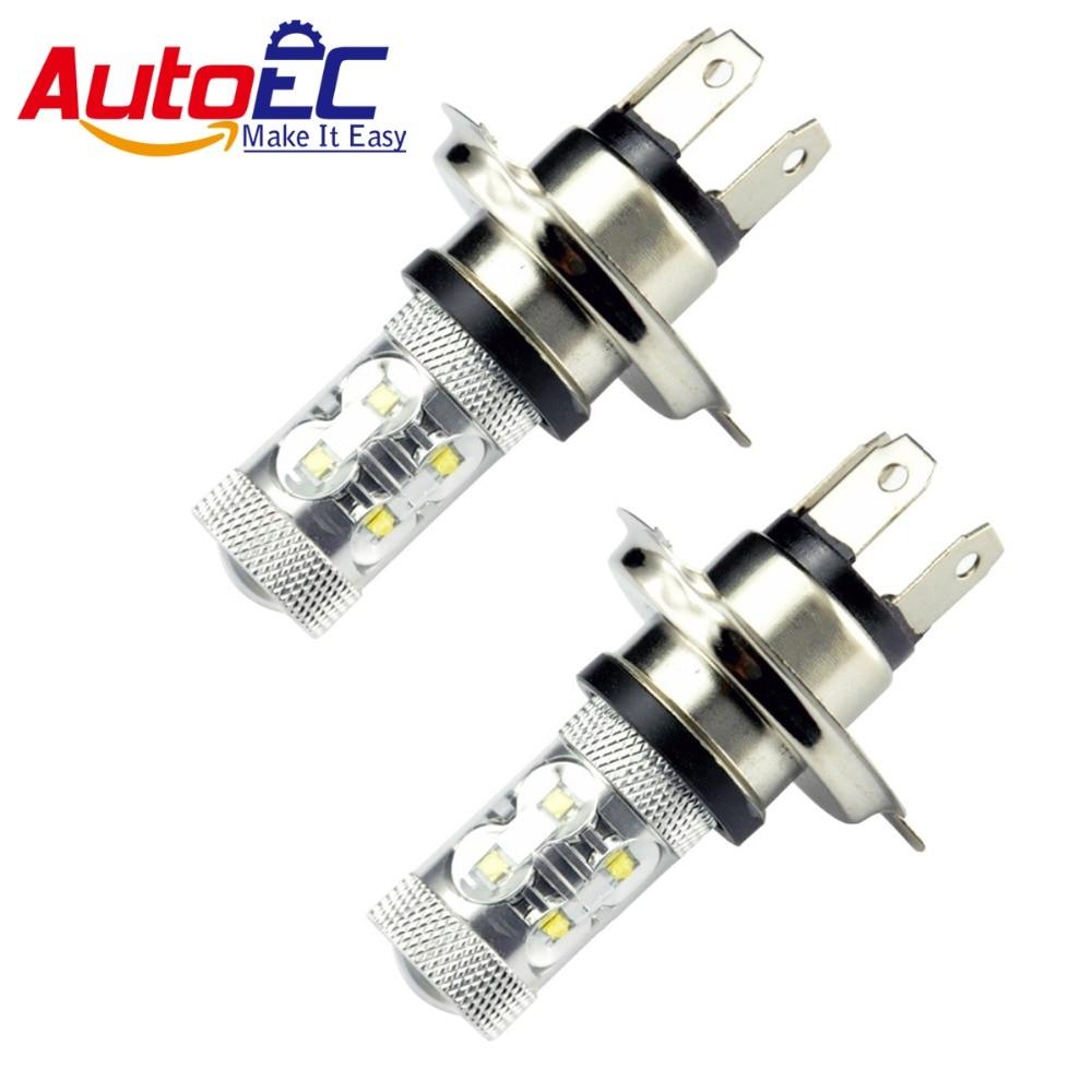 Autoec 2x60 Вт H4 светодиодные лампы DC 12 В 360 градусов 12 светодиодов высокой мощности микросхемы автомобилей туман свет белый DC 12 В # LJ26