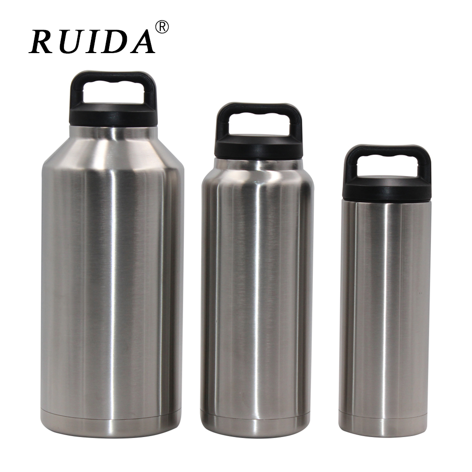 RUIDA  Insulation Cup 18/36 / 64oz Vacuum Double Layer 304 Stainless Steel Car Large Capacity ST010