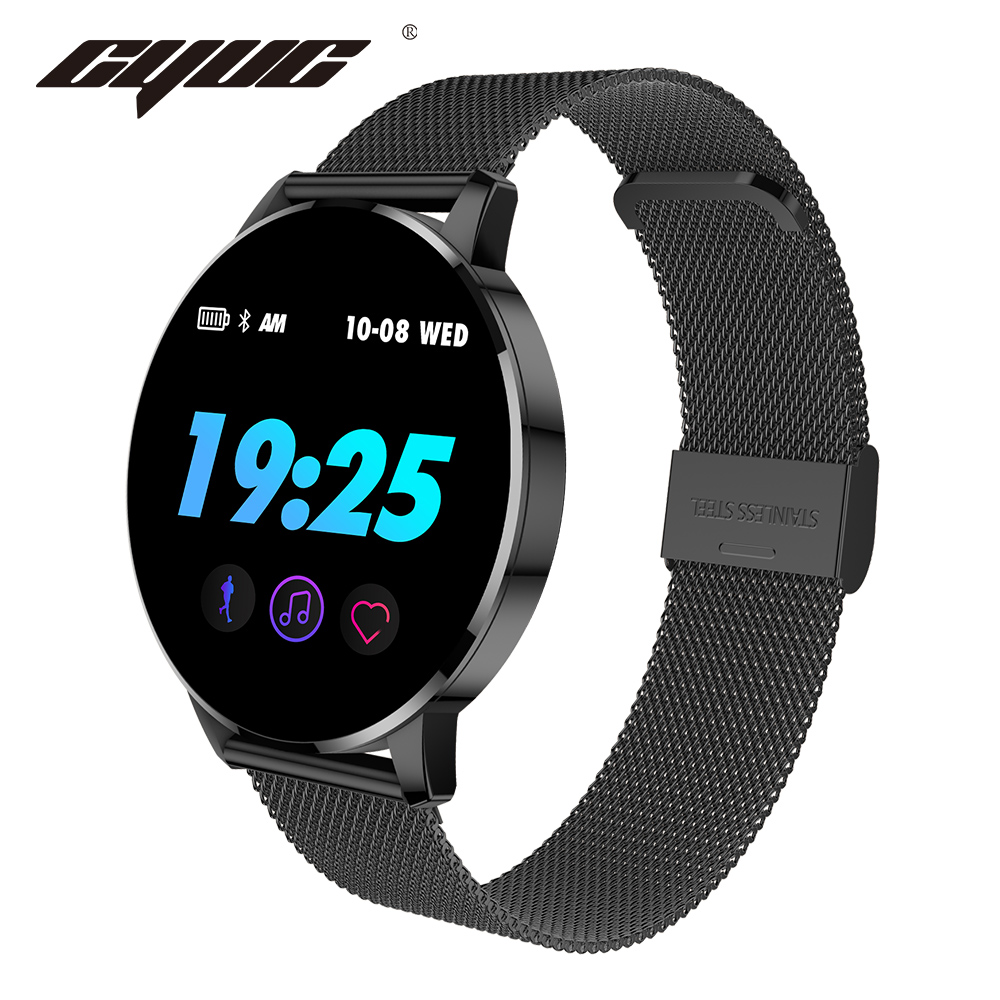 CYUC Q8 Advanced 1.3 inch OLED Color screen smart watch IP67 waterproof smartwatch men fashion heart rate fitness tracker smartfit 3.0 activity tracker