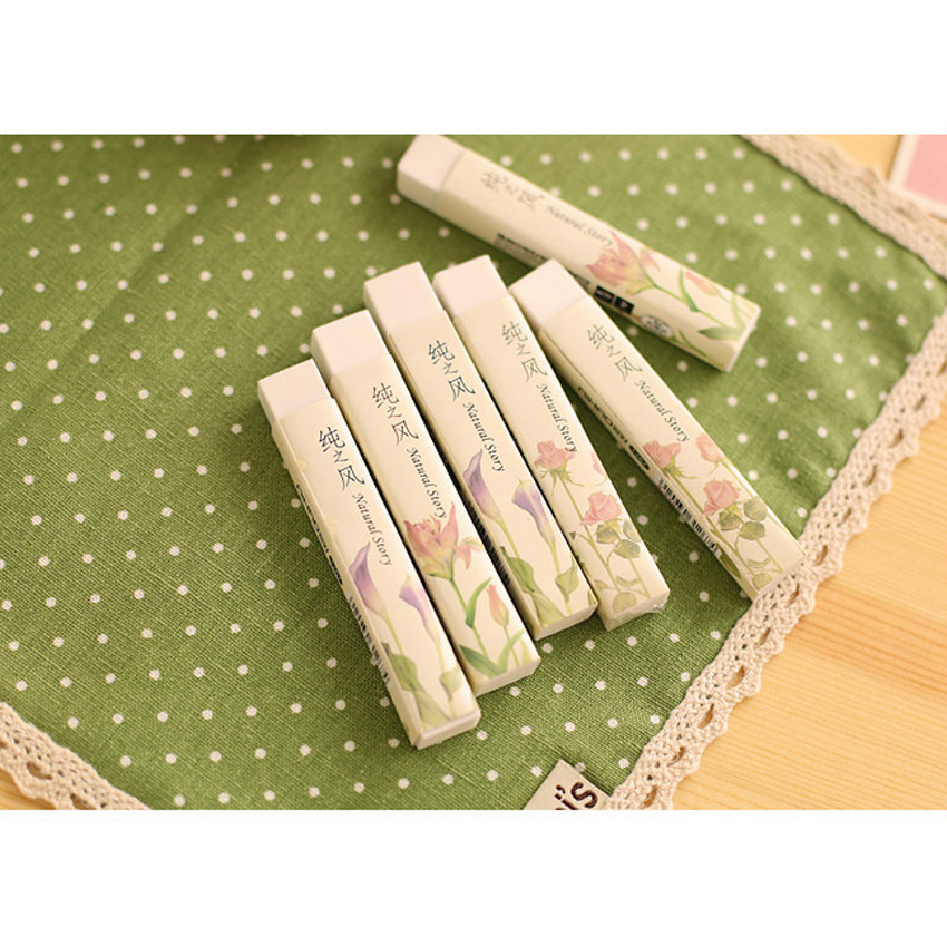 2pcs/lot Kawaii Korea Pure Wind Strip Rubber Gift Stationery Learning For Kid Rubber Office School
