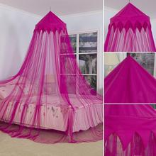Kids Child Hung Dome Mosquito Net Princess Hanging Round Lace Canopy Bed Netting for Baby Boys and Girls Playing Reading