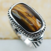 Tiger Eye 925 Sterling Silver Top Quality Fancy Jewelry wedding  Ring Size 6 7 8 9 10 11 F1200