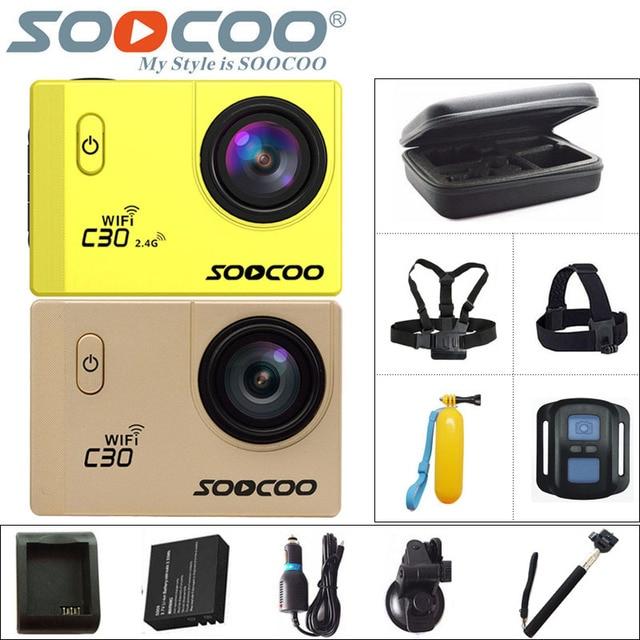 Original soocoo c30/c30r action camera 4 k wifi esporte dv 2.0 polegada LCD Gyro Mergulho 1080 P HD Cam À Prova D' Água 30 m Esportes NTK96660