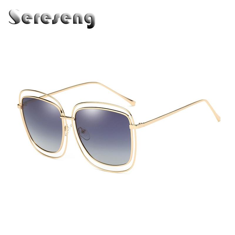 2018 New Fashion Designer metal Sunglasses Men Women Retro Pilot Style Polarized  Mens Sunglass WD0846