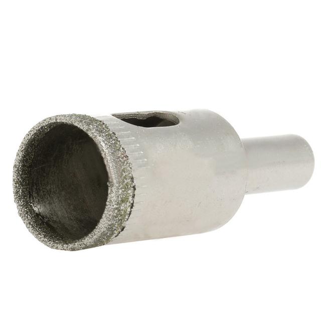 Cortador de brocas de núcleo de mármol de vidrio de cerámica con agujero revestido