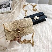 2019 Fashion Metal Lock Mini Small Square Pack Shoulder Bag Crossbody Package Clutch Women Designer Wallet Handbags Bolsos Mujer