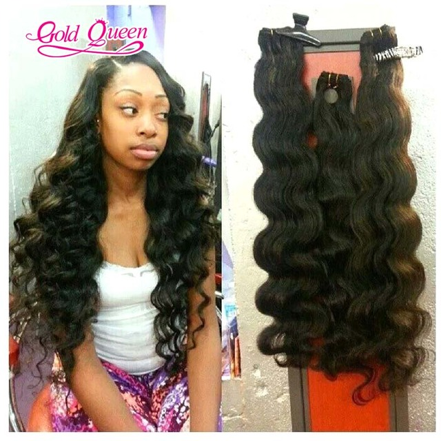 Gold Queen Hair Products Brazilian Loose Wave Sew In Hair Extensions