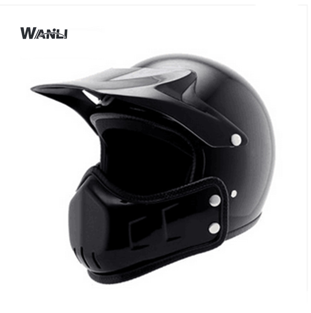 New Retro Vintage German Style Motorcycle Helmet 3 4 Open Face Helmet Scooter Chopper Cruiser Biker