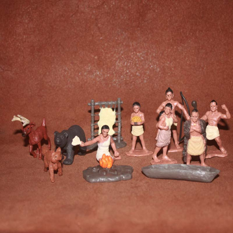 solid pvc figure Simulation model toyPoitan Indians Reindeer Black Bear Canoe Life Scene 12pcs/set 5pcs set simulation model toy scene decoration cowboy pvc figure rare out of print