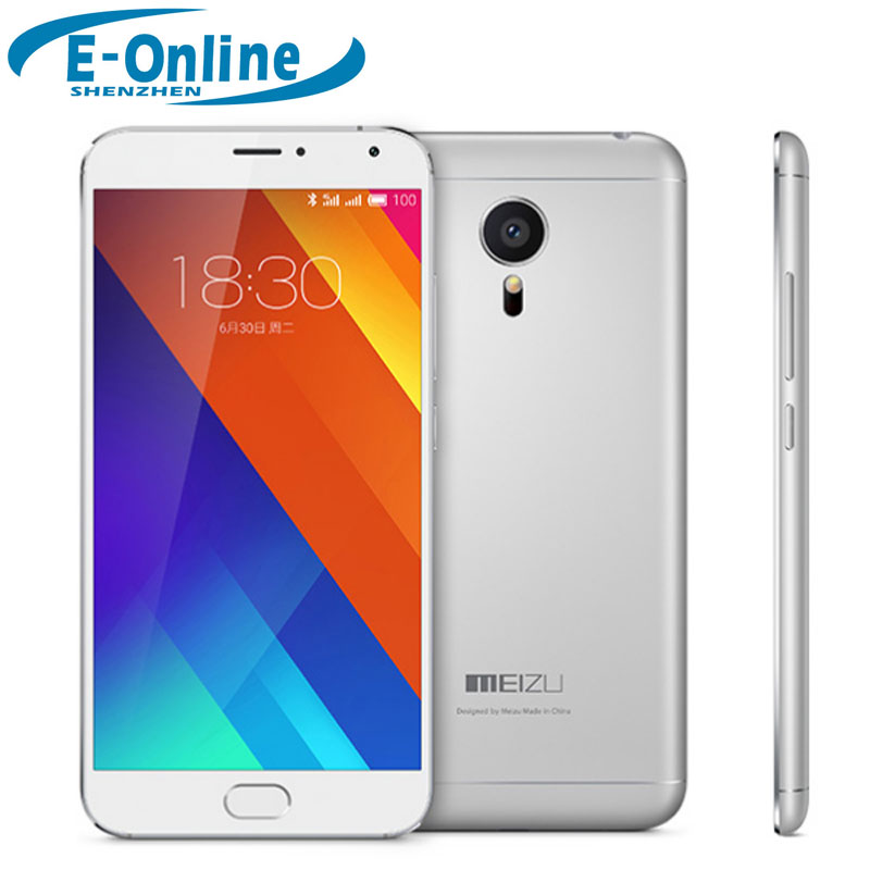 Original Meizu MX5 Mx5e 4G LTE Smart Phone 5.5 inch Flyme5.1.3.0G  Helio X10 Turbo Octa Core 2.2 GHz 3GB RAM 1920*1080