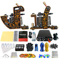 Solong Tattoo Beginner 2 Rotary Tattoo Machine Guns Kits Power Supply Foot Pedal 20 Needles Grip Tip Ink Cup TK201-30