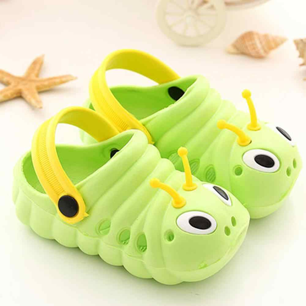 קיץ נעלי בית לילדים פעוט קיד בני בנות חמוד חוף Flip סנדלי נעלי תינוקות קריקטורה הדפסת שטוח עקבים נעליים