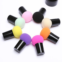 Professional Makeup Foundation Sponge Cute Mushroom Shape Head Makeup Foundation Sponge Cosmetic Puff Powder Brush Beauty Tool sponge brush head black