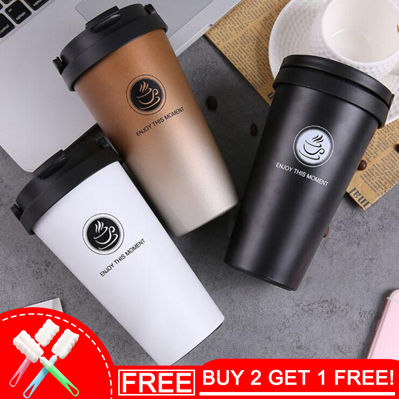 Keelorn Hoge kwaliteit Double Wall Stainless Steel thermosflessen 500ml Thermo Cup Coffee Tea Milk Reismok Thermol Bottle