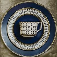 Set Of 4pcs Dinner Plate Sets Ceramic Dish Set Steak Plates Coffee Mug Saucer Sets