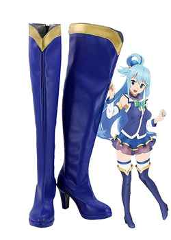 KonoSuba: Gods Blessing on this Wonderful World! Aqua Cosplay Boots Shoes Custom Made - DISCOUNT ITEM  0% OFF All Category