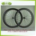 Горячая Распродажа 50 мм карбоновая ямочка колесная 700C клинчер углеродное волокно велосипед ямочки диски 50 мм диски Углеродные колёсные дис...