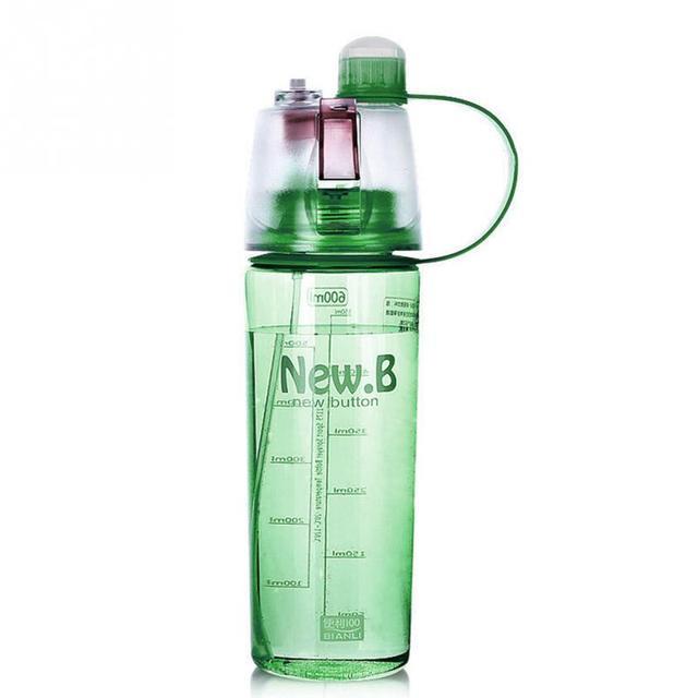New Bottles 600ML 400ML Plastic Sports Spray Water Bottle Straw For ...