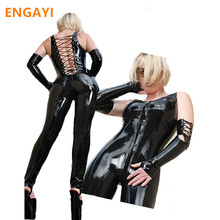 ENGAYI Brand Sexy Women Faux Leather Latex Erotic Dress Summer Babydoll Nuisette Lenceria Costumes Dresses Porn Teddy A1057