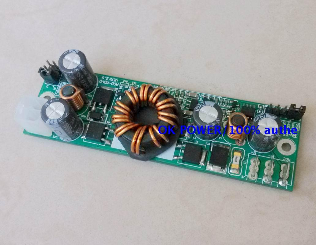 где купить 12V/5A Intelligent Vehicle Power 8-36V Input Silent Port LTC3780 Band ITPS Delay 120 Seconds Off дешево