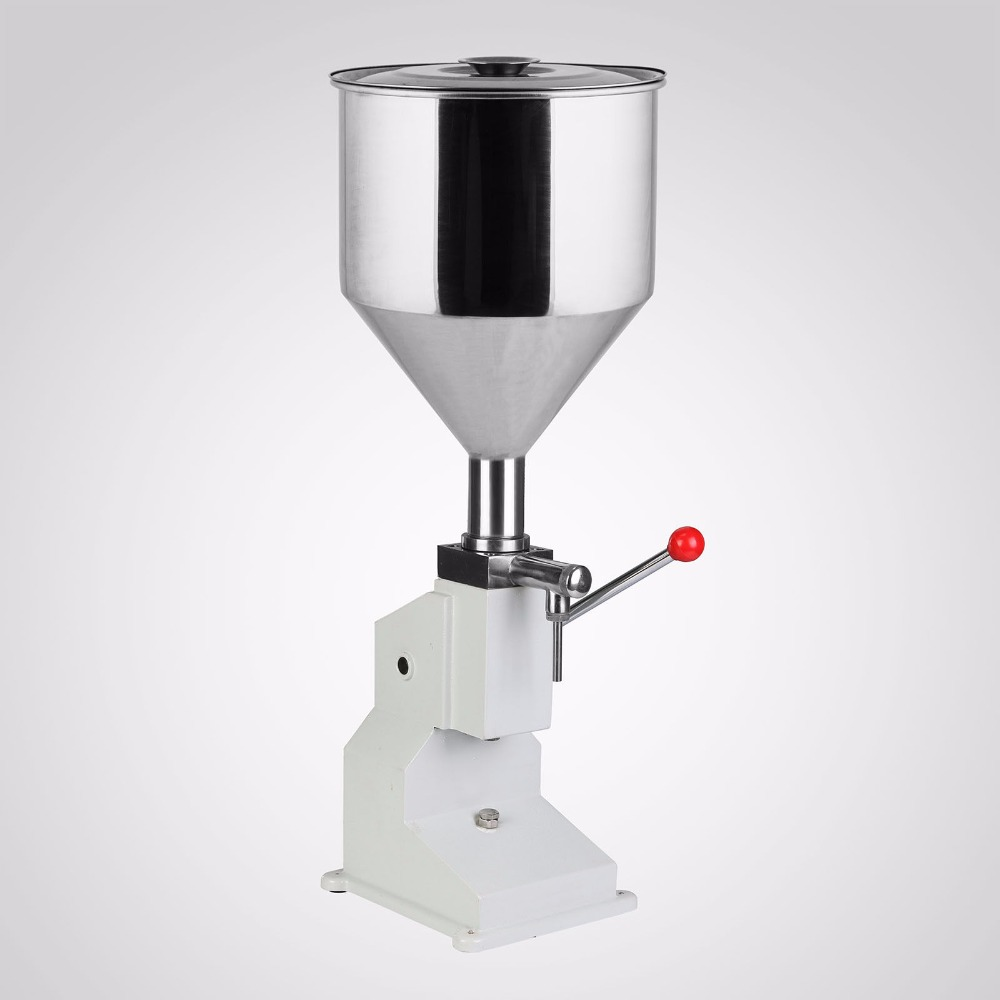 Manual Hand Pressure 5-50ml Cream Filling Machine Cream Paste Shampoo Cosmetic Filler A03 shampoo lotion cream yoghourt honey juice sauce jam gel filler paste filling machine pneumatic piston filler with free shipping