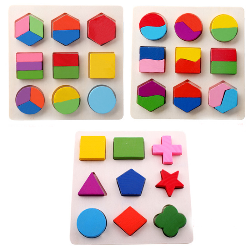 1 pcs Colorful Early Learning Wooden 3D Blocks Children's Educational Toys Geometry Play Toys 150 1 piece waste ink tank chip resetter for epson 7700 9700 7710 9710 printer maintenance box tank