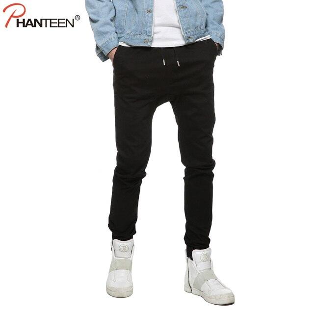 9891a160a4ee8 Taille européenne De Mode Unique Classique Hommes Jogger Pantalon Stretch  Tissus Slim Homme Pur Coton Cordon