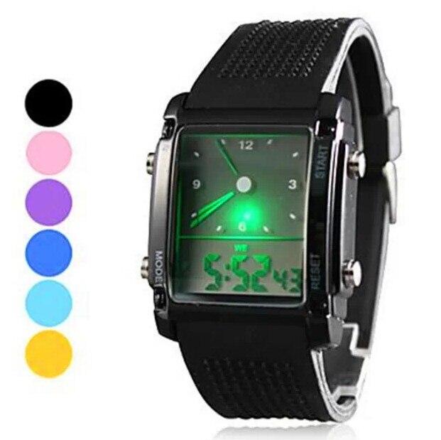 Мода Цифровой Кварцевые Часы Электронные 2015 Новая Военная СВЕТОДИОДНЫЕ Часы Силиконовой Лентой Мужские часы