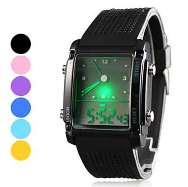 Fashion Digital Quartz Watch Electronic 2015 New Military LED Watch Silicone Band Men watch hoska hd030b children quartz digital watch