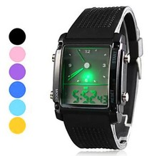 Moda Reloj de Cuarzo Digital Electrónico 2015 Nueva Militar Reloj LED de Silicona Banda reloj de Los Hombres
