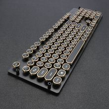 DIY 87 104 Keycap Steam Punk Typewriter Top Print font b Keyboard b font Switch For